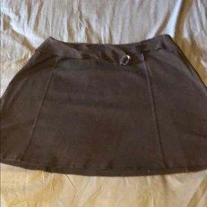 Brown just above the knee skirt